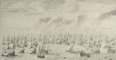The Battle of Schevening Willem van de Velde August 1653