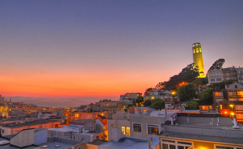 golden gate bridge photo spots - Coit Tower