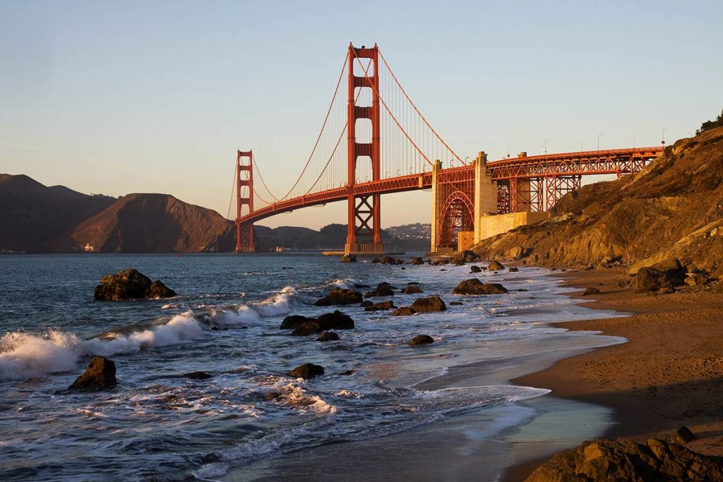 golden gate bridge photo spots - Baker Beach