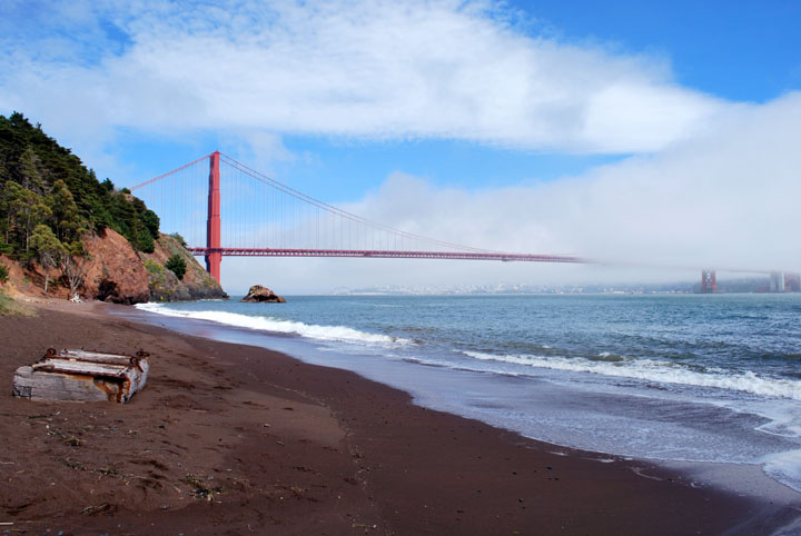 Incredible Photos of Golden Gate Bridge from Kirby Cove