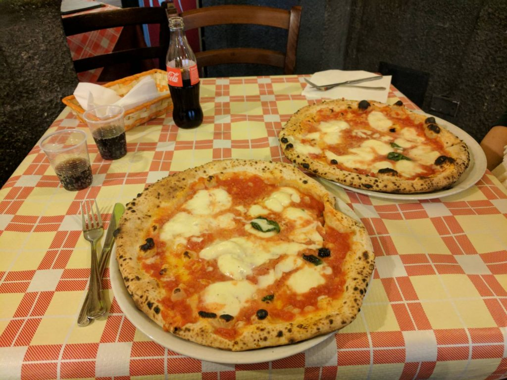 Pizza in Naples Italy
