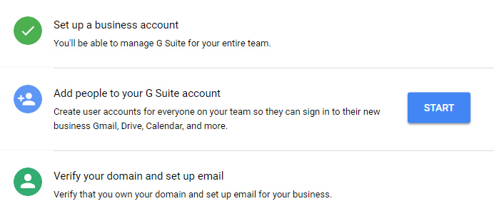 G Suite Setup Steps