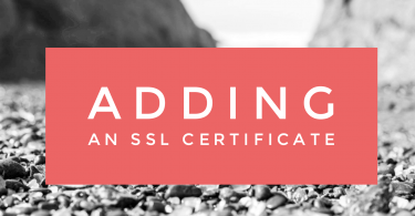 Adding an SSL Certificate