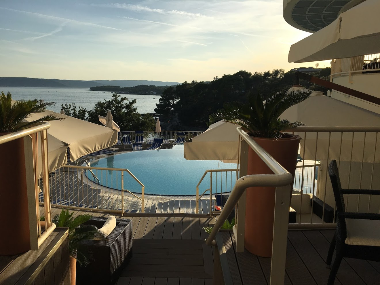 krk croatia beach pool sunset