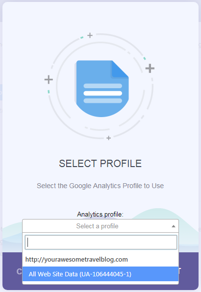 MonsterInsights Profile Select