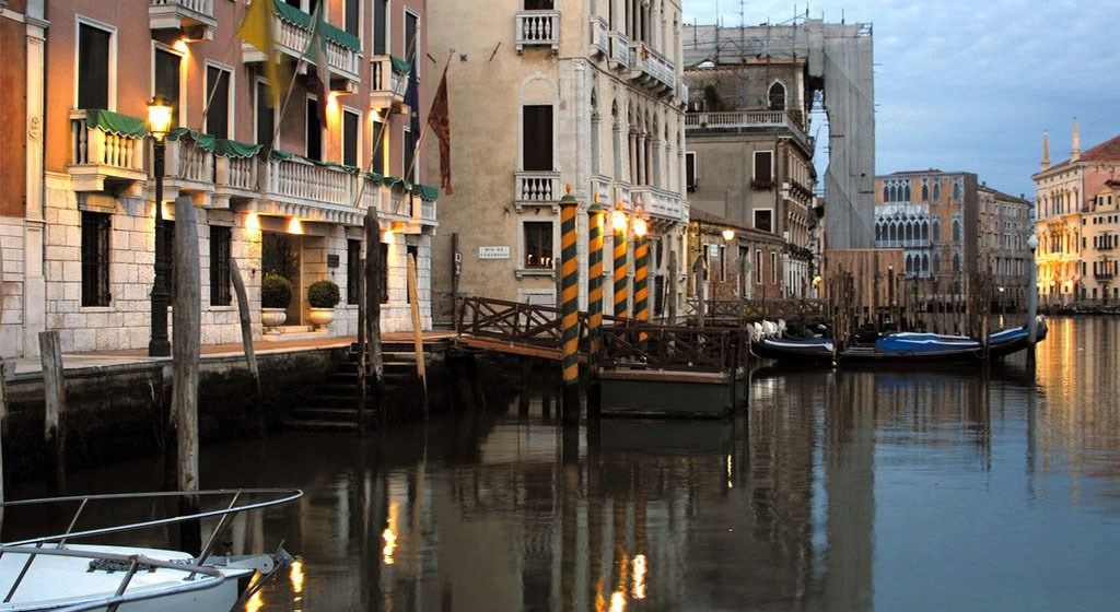 Palazzo Sant'Angelo sul Canal Grande in Venice Italy