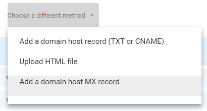 Verify with MX record