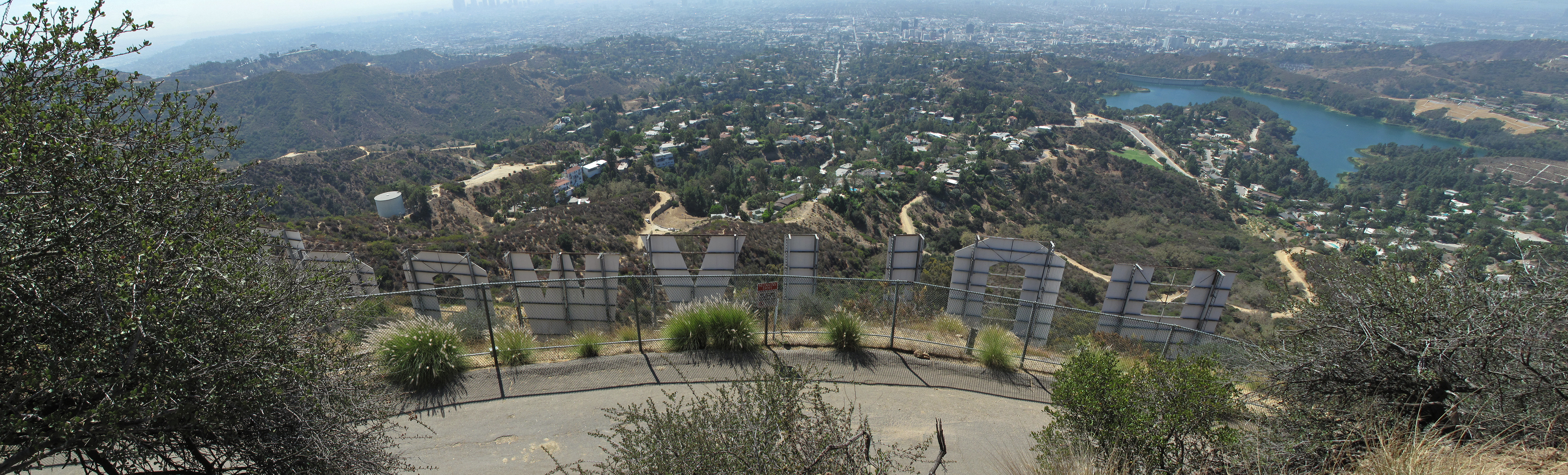 Back of Hollywood Sign from Beachwood Canyon Drive