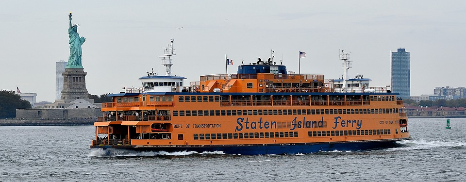 Staten Island Ferry with Statue of Liberty