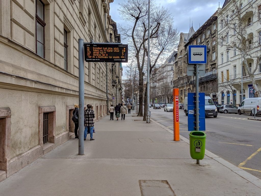 Budapest bus stop