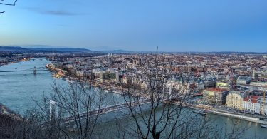 Sunset view from the Citadel in Budapest