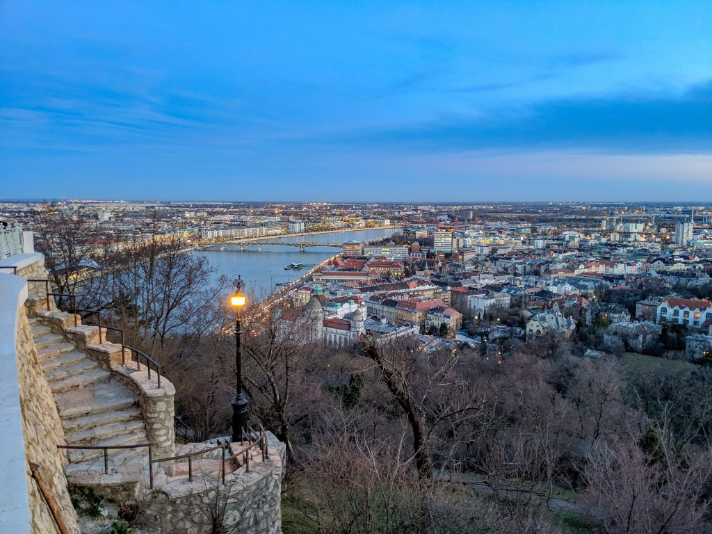 Budapest Citadel view at sunset
