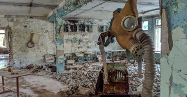 Gas masks in Pripyat School