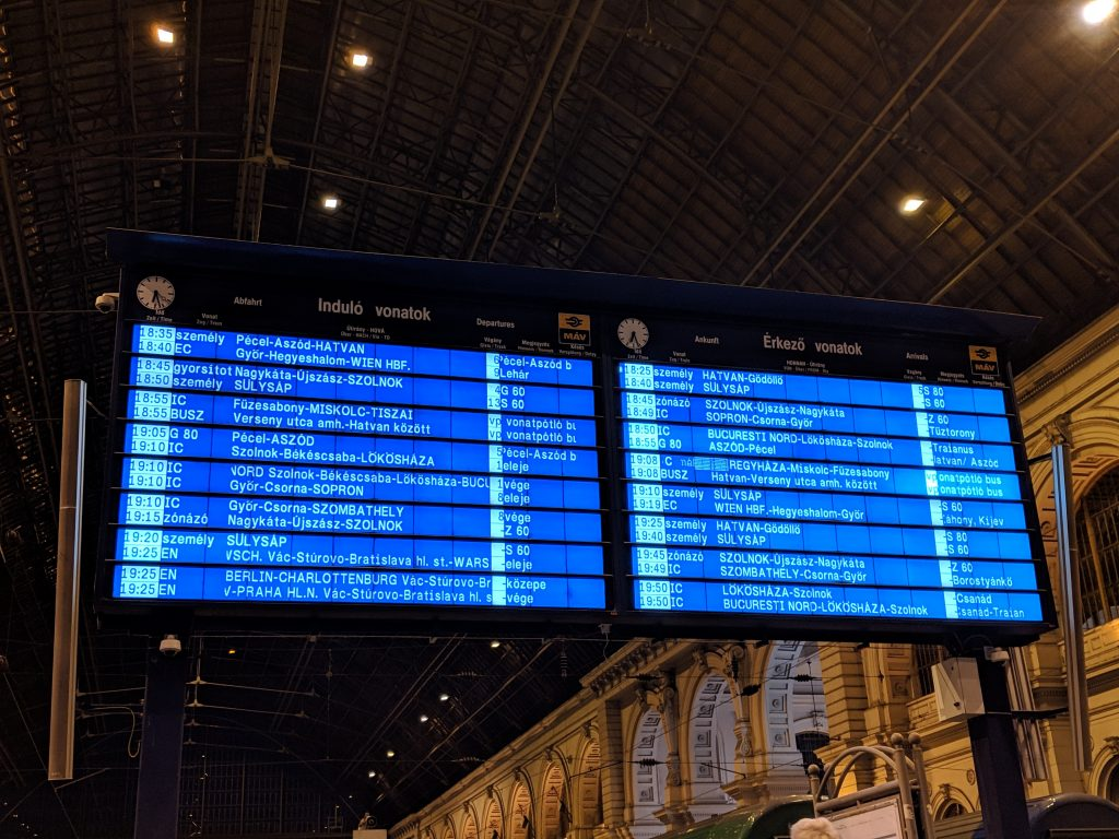 Train Station Board
