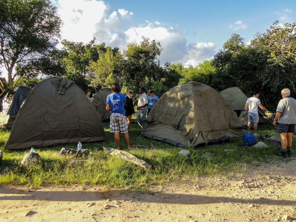 African overland tour tents