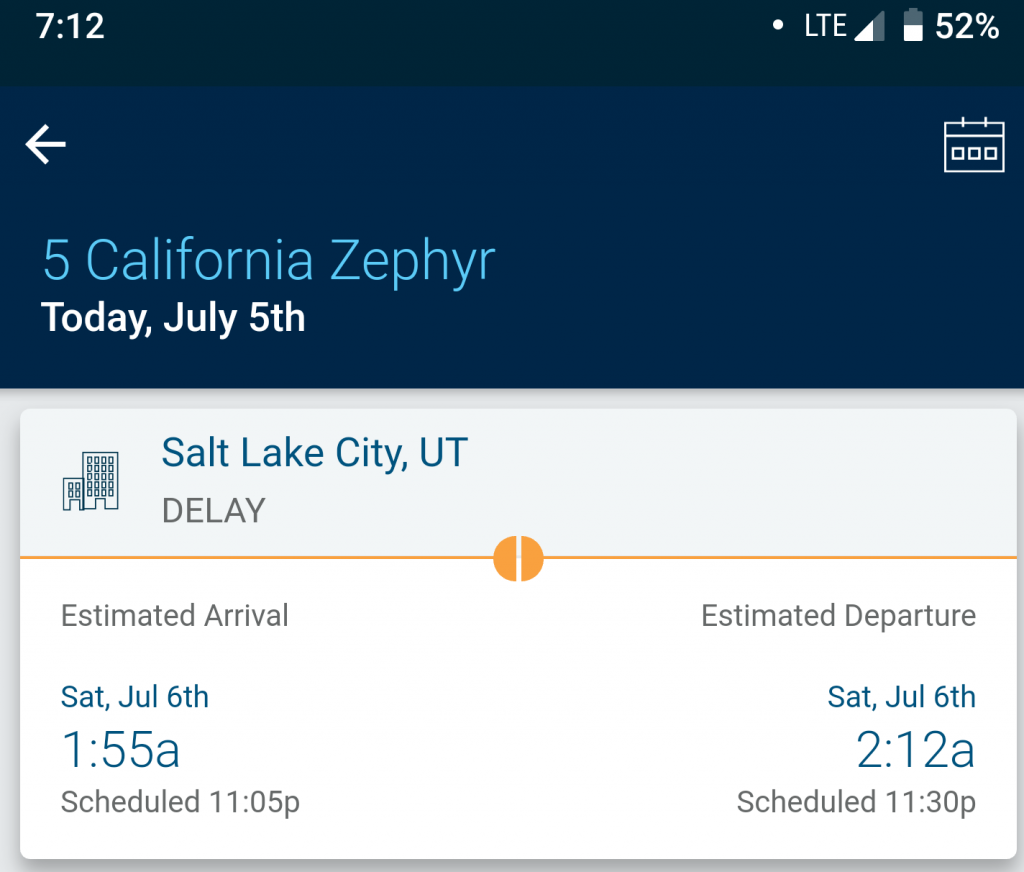 Amtrak Delay